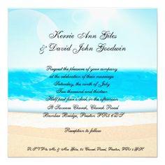 Beach wedding Invitations Square
