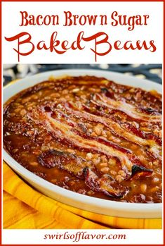 Healthy Baked Beans, Simple Baked Beans Recipe, Canned Baked Beans, Best Baked Beans, Baked Beans With Bacon, Baked Beans In Oven, Side Dishes Easy, Side Dish Recipes, Dinner Recipes