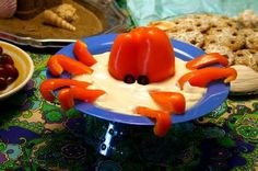octopus dip for under the sea party food by dennas ideas - Underwater Themed Party - Hawai Party, Luau Party, Fiesta Party, Meer Party Essen, Sea Party Food, Sea Food, Underwater Party, Party Mottos, Octonauts Party