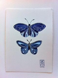 Blue Butterflies by MagaMerlina, via Flickr