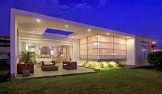 Resultado de imagem para projetos de casas modernas terreas para terrenos planos retangulares 12x30