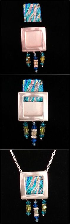 """Design something 1""""x1"""", slide it in the Gallery Pendant & add a chain. Add dangles for a little flare. www.ARTiFILL.com"""