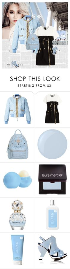 """""""People will stare. Make it worth their while."""" by e-laysian ❤ liked on Polyvore featuring Moschino, MCM, Essie, Eos, Laura Mercier, Marc Jacobs, CLEAN, Abcense and Lanvin"""