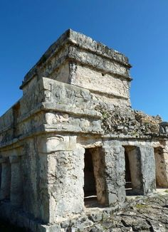 Mayan temple at Tulum, Mayan Riviera, Mexico. Photo (c) Susan Lanier-Graham