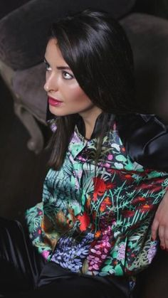 Silk Blouses, Silk Satin, Ruffle Blouse, Sexy, Beautiful, Tops, Women, Fashion, Moda