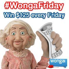 #WongaTGIF - Enter every Friday on Facebook: https://www.facebook.com/wongacanada  #winwithwonga