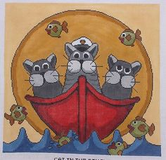 """Cat Needlepoint Canvas 