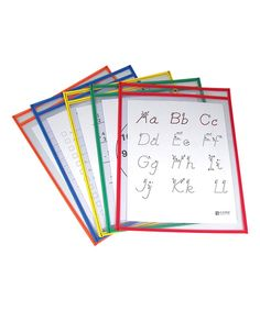 Love this Large Primary Color Reusable Dry Erase Pocket - Set of Five by C-Line Products on #zulily! #zulilyfinds