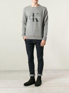 Calvin Klein Mens Grey Jumper #MensFashion