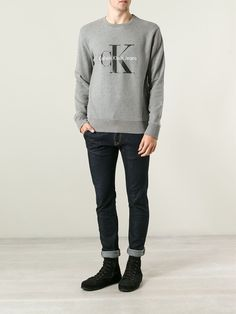 Calvin Klein Mens Grey Jumper #MensFashion