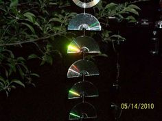 Garden Rainbow with recycled CD's.