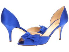 Kate Spade New York Shalyn 6pm $230 Cobalt Satin 3 inch heel