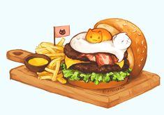 Food Doodles, Kawaii Doodles, Cute Doodles, Cute Food Drawings, Cute Kawaii Drawings, Kawaii Art, Cute Food Art, Cute Art, Chibi Food