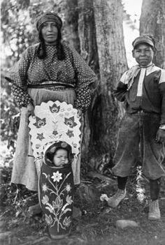 Salish woman and children, St. Ignatius Mission, Montana, 1924 :: American Indians of the Pacific Northwest -- Image Portion