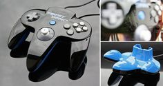Was a customer order you can see more details here: [link] Custom Perfect Dark controller Video Game Rooms, Video Games, Custom Consoles, Nintendo N64, Perfect Dark, Retro Arcade, Break Room, Gaming, Environment