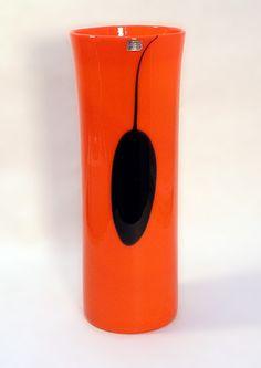 Freeforms --Gunnel Nyman for Nuutajarvi Lassi, Orange Walls, Glass Ceramic, Butterfly Wings, Dark Colors, Finland, Color Pop, Scandinavian, Glass Art
