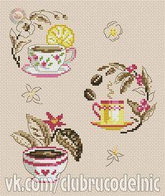 "ru / - Альбом ""cha e cafe"" Small Cross Stitch, Cross Stitch Kitchen, Cross Stitch Heart, Cross Stitch Cards, Cross Stitch Designs, Cross Stitching, Cross Stitch Embroidery, Cross Stitch Patterns, Vintage Cross Stitches"