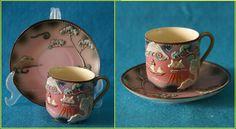 porcelana japonesa em relevo