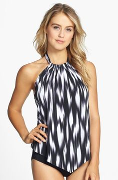 b03ee500d6a Magic Suit by Miraclesuit® 'Nicole - Cascade' Print Underwire Tankini Top |  Nordstrom
