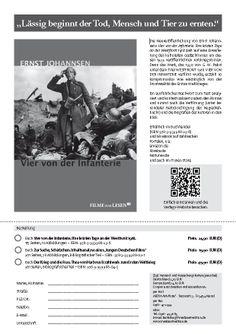 """Unser Werbezettel für das Buch, den Antikriegsklassiker """"Vier von der Infanterie. Ihre letzten Tage an der Westfront 1918""""!"""