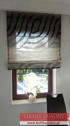 jedna z rolet część większej dekoracji #rolety, #dekoracje Butik wnętrz Łuków