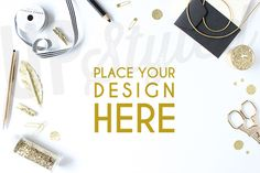 Gold Desk Stock Photo Mock Up A129 by UpStyled on Creative Market