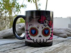 Color Change Hello Kitty Sugar Skull - Mug