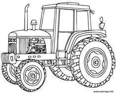 7 Meilleures Images Du Tableau Coloriage Tracteur Coloring Book