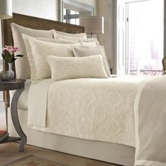 **$250.00/king   Wamsutta® Collection Salerno Coverlet in Linen - BedBathandBeyond.com