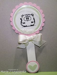 Baby Rattle Shaker Card