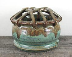 Lattice Flower Frog Vase by LaPellaPottery on Etsy