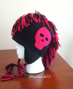mohawk hat,hats for boys,girls accessories,ready to ship,halloween costume,cool gifts,winter hats,ear flap hat,gift for teen,christmas gifts