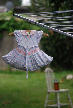 Great idea for clothes pin holder!! Need an old dress from my granddaughters!