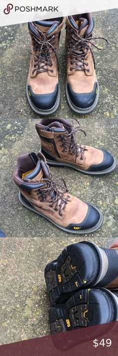 "Caterpillar COLORADO 6/"" Slip Resistant Mens Work Casual Green Camo Leather  Boot"