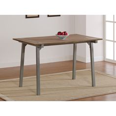 Add rustic sophistication to your home with this 30' x 48' elegant dining table that features a weathered-looking tabletop for an antique feel. The durable finish on the legs is scratch-resistant to protect them from little shoes and dropped plates.