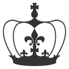 Vintage French Stencils | Royal Crown Wall stencil | Buffalo Vintage Homewares