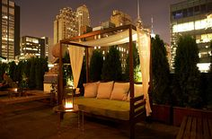 Mad46 Rooftop Lounge - A hidden oasis under the Manhattan skyline. Located atop the 19th floor of The Roosevelt Hotel. (Hotel rooftop/Midtown)