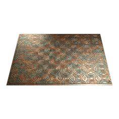 Fasade 18.5-In X 24.5-In Copper Fantasy Thermoplastic Multipurpose Bac