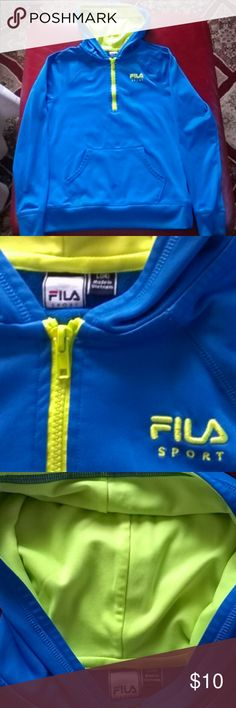 Hoodie Jacket Fila (girls) Hoodie Jacket Fila Sport, (girls),100%polyester, color blue and green neon Fila Jackets & Coats