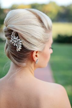 Wedding Hairstyles for Outdoor Weddings - Wrapped Updo with Glitz