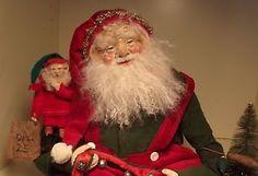 Kim's Klaus OOAK Handmade Santa Claus Elf Antique Vintage Primitive Christmas   eBay