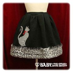 "So 50s & Paris!  ""Trick Cat Skirt""  Love the leopard print!"