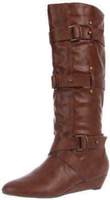 Madden Girl Women's Ilstrate Knee-High Boot.  $55.12 - $70.99            Banded buckles and subtle studs lend tons of attitude to Madden Girl's Ilstrate knee-high boot. This tough look in synthetic wins thanks to a 1.25-inch heel for a sliver of height that won't interfere with your lawless ways. A pull-on closure has you ready to roll in a sna...