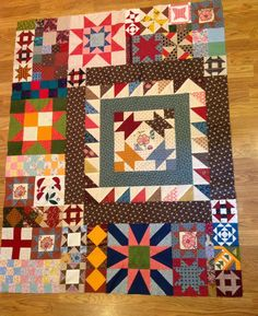 Scrappy Orphan blocks quilt...good for arrangement ideas.