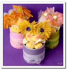 Manualidades para compartir: Souvenirs infantiles: cajitas de cartón decoradas con caritas de tela