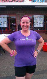 Maryalicia rocking an I run things tee at a PacNW race. 574486_4462854375003_12422962_n.jpg