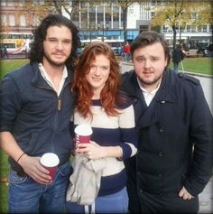 Kit Harington, Rose Leslie & John Bradley-West