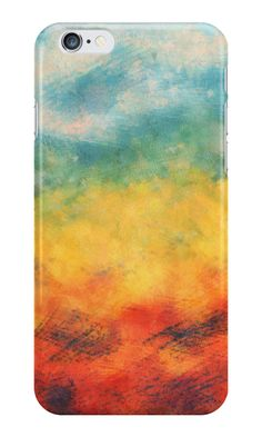 """""""Multi-colored art"""" iPhone Cases & Skins by floraaplus 
