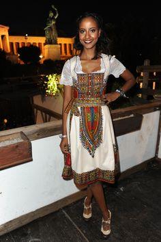 Bavarian dress in Habesha style