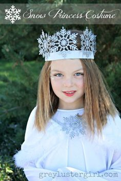 DIY Snow Princess Halloween Costume